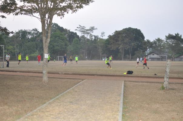 Playing soccer at the International School